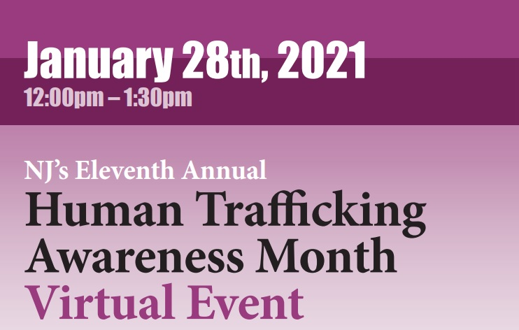 Human Trafficking Month - Virtual Event Flyer